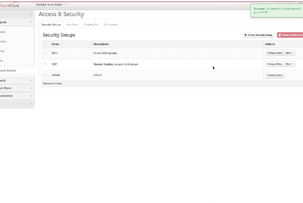 scalecloud-screencast-create-security-groups